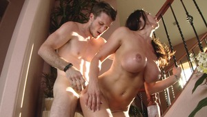 Girls fuck with double headed dildo